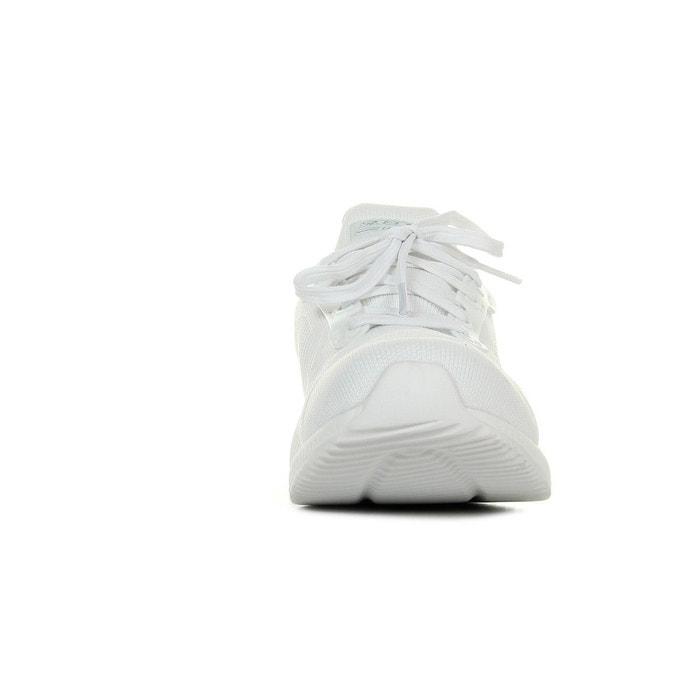 Baskets femme bobs squad blanc Skechers