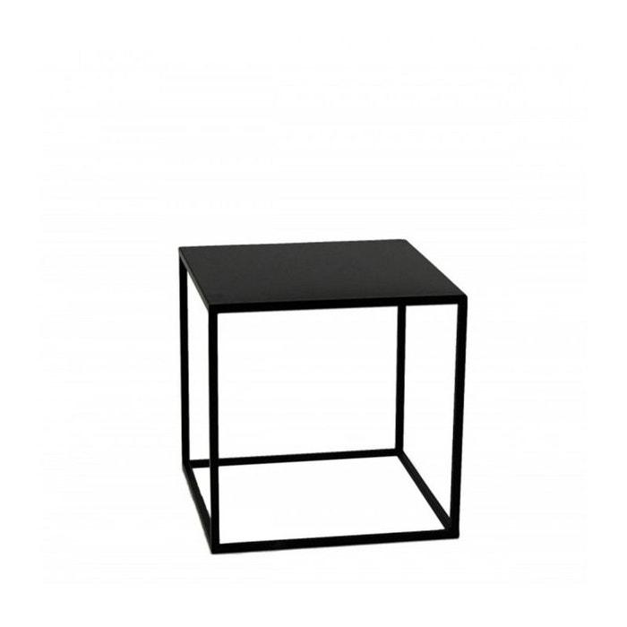 Table D Appoint Noir.Table D Appoint Carree Bout De Canape Metal Noir 40x40x40cm