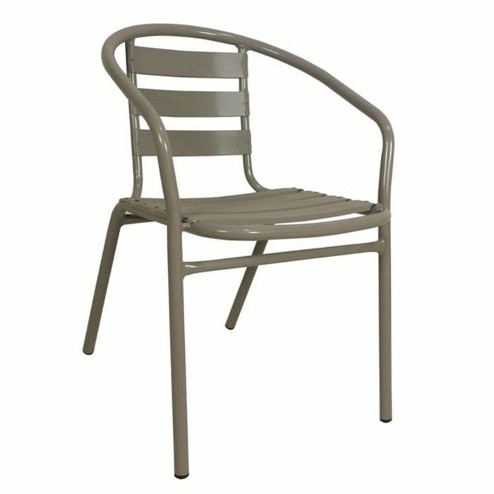 lot de 2 fauteuils empilables bistrot alu ou m ta la redoute shopping prix la redoute. Black Bedroom Furniture Sets. Home Design Ideas