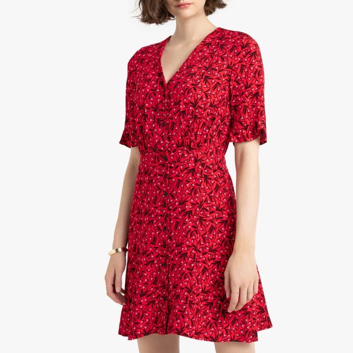 letzte Veröffentlichung so billig hohe Qualität Kurzes Kleid mit A-Linie, V-Ausschnitt, kurze Ärmel