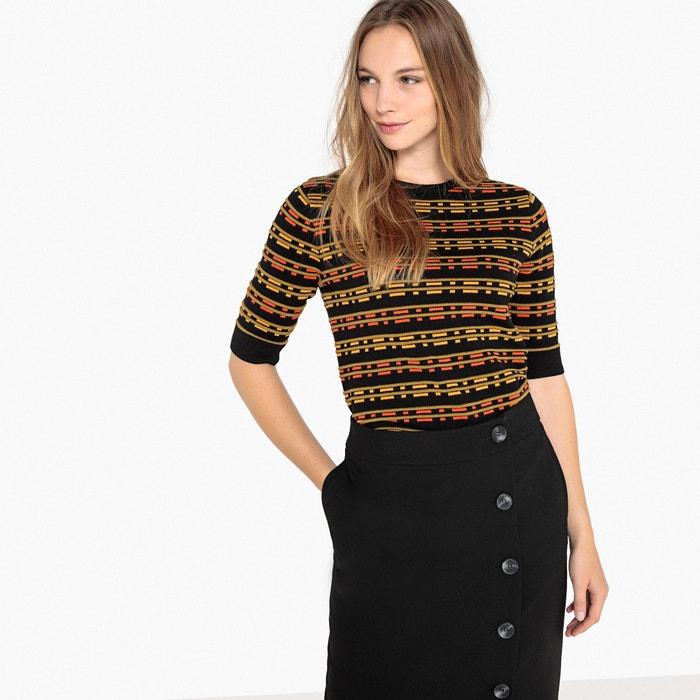 Пуловер с круглым вырезом и короткими рукавами  MADEMOISELLE R image 0
