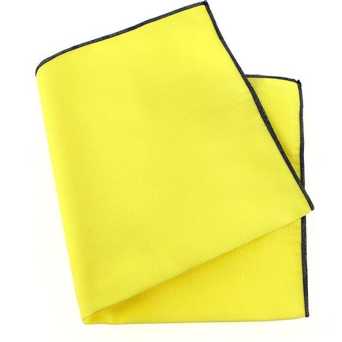 Pochette soie, jaune citron, ourlet bleu royal jaune Tony Et Paul | La Redoute