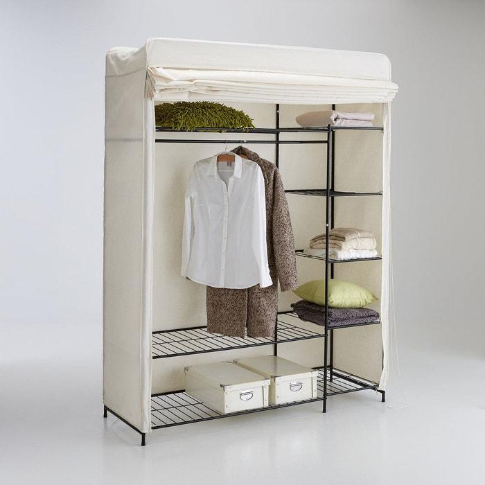 Armoire garde robe valice blanc cru la redoute for Armoire penderie pour entree