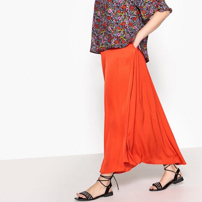 Falda muy larga lisa de corte evasé  CASTALUNA image 0