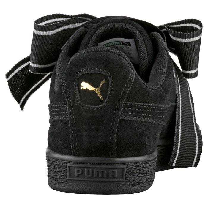 745a35d0933 Sneakers wns suede heart satin zwart Puma | La Redoute