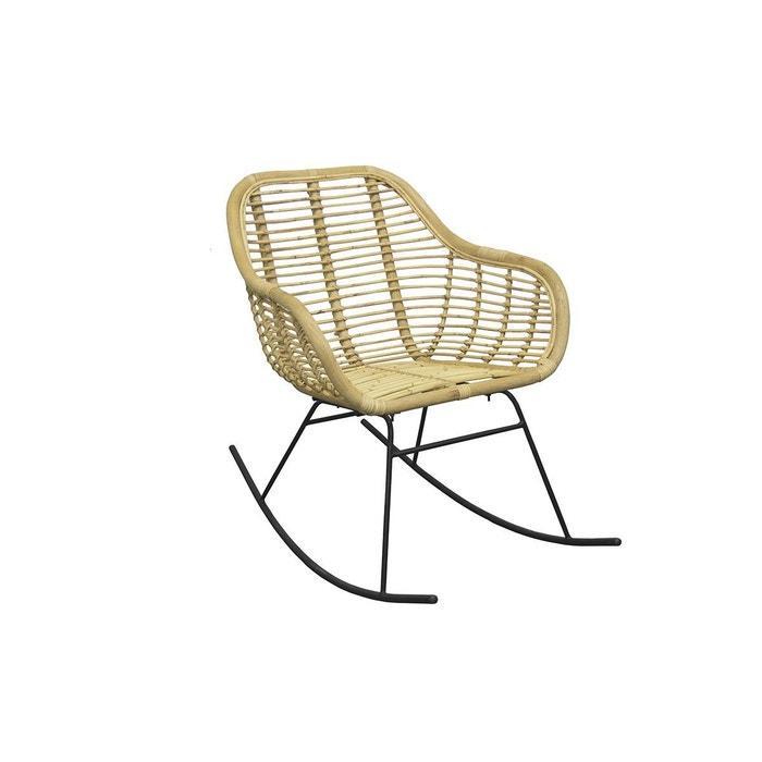 Rocking chair en rotin naturel malacca naturel Miliboo | La Redoute
