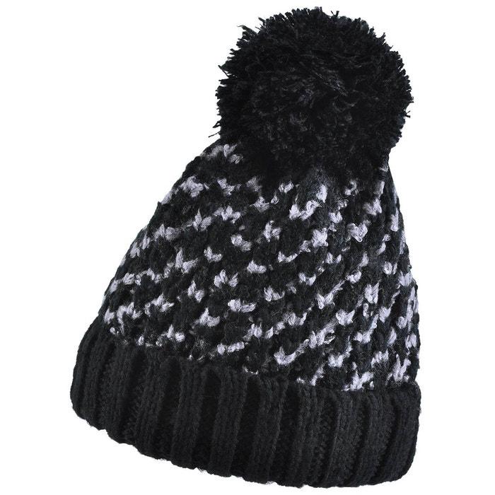 Bonnet pompon amalia noir noir Allee Du Foulard   La Redoute f5c78d3b041