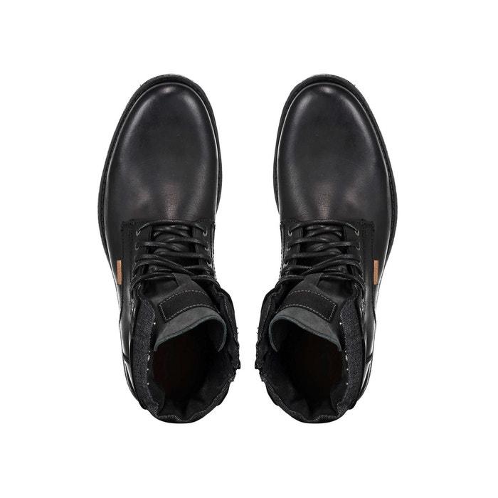 Boots cuir emerson collar noir Levis