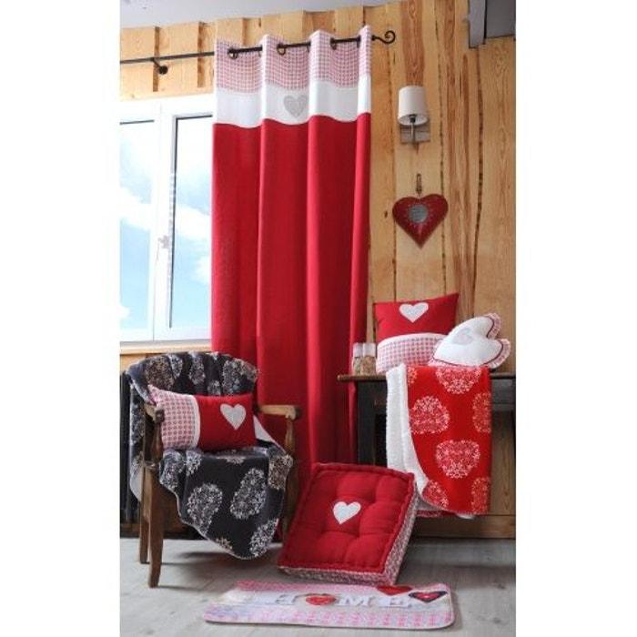 rideau montagne chic rouge home maison la redoute. Black Bedroom Furniture Sets. Home Design Ideas