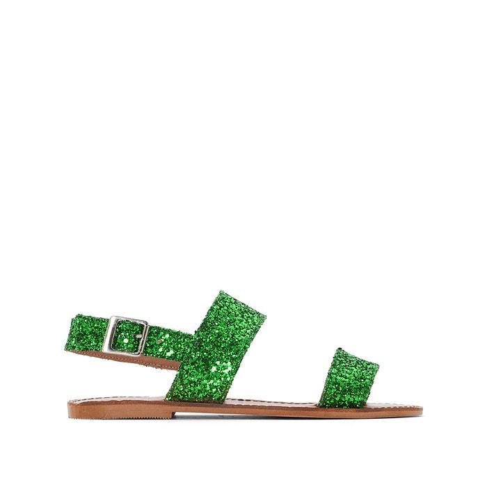 Sandali piatti, pelle, Glitter  JONAK image 0