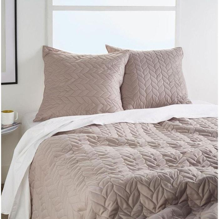 jet de lit matelass e avec ses 2 taies lin home maison. Black Bedroom Furniture Sets. Home Design Ideas
