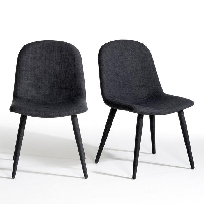 chaise vistilia lot de 2 gris chin am pm la redoute. Black Bedroom Furniture Sets. Home Design Ideas