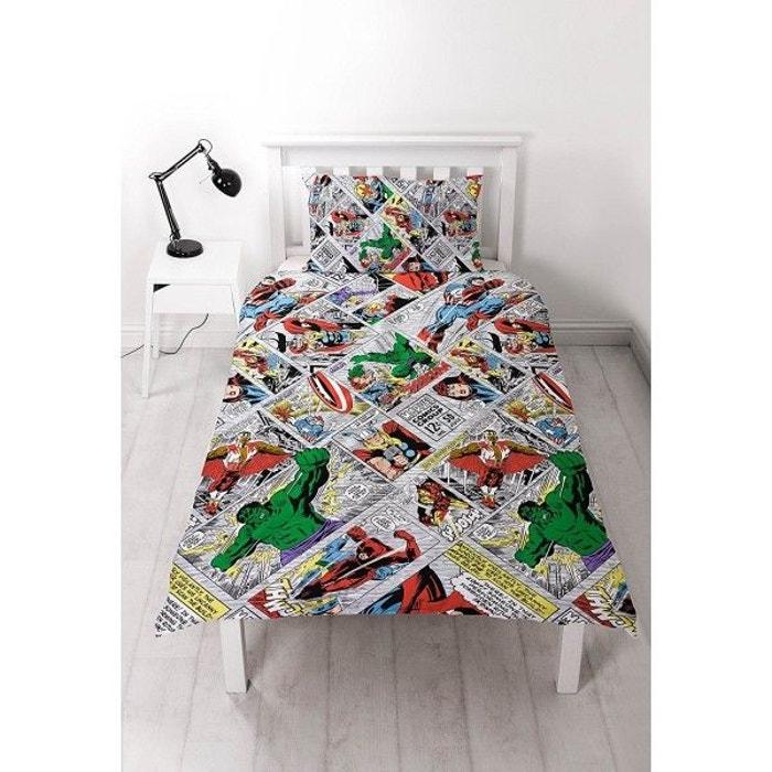 avengers marvel r tro parure de lit enfant housse de. Black Bedroom Furniture Sets. Home Design Ideas