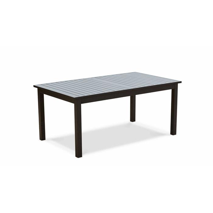 Table de jardin en aluminium noir extensible
