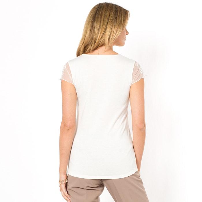 lisa WEYBURN redondo Camiseta cuello con corta manga y ANNE E1z6nqxvE