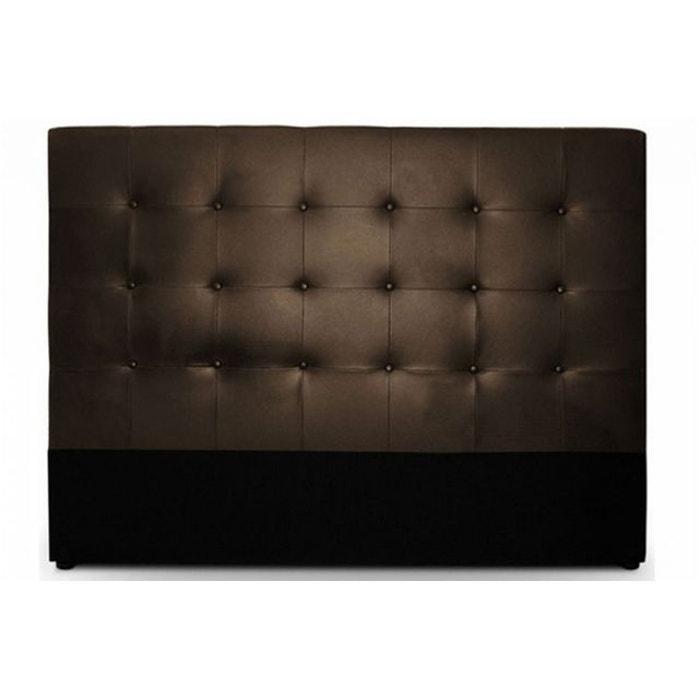 t te de lit capitonn e 160cm cocoon choco marron declikdeco la redoute. Black Bedroom Furniture Sets. Home Design Ideas