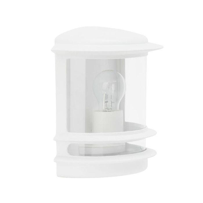 Hollywood applique d 39 ext rieur blanc h25cm luminaire d for Luminaire exterieur blanc
