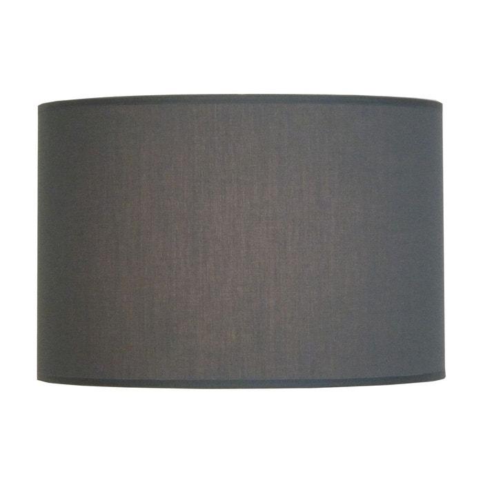 abat jour cylindre a la carte gris en tissu gris keria la redoute. Black Bedroom Furniture Sets. Home Design Ideas