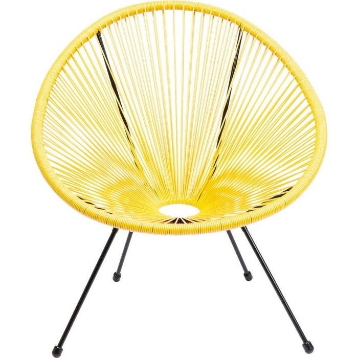 Fauteuil de jardin acapulco jaune kare design jaune Kare Design   La ...