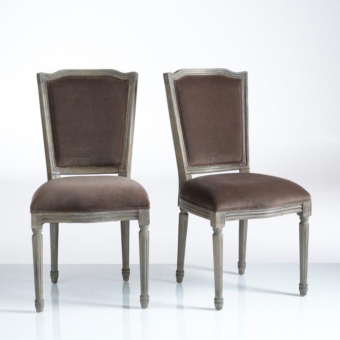 chaise style louis xvi lot de 2 trianon la redoute. Black Bedroom Furniture Sets. Home Design Ideas