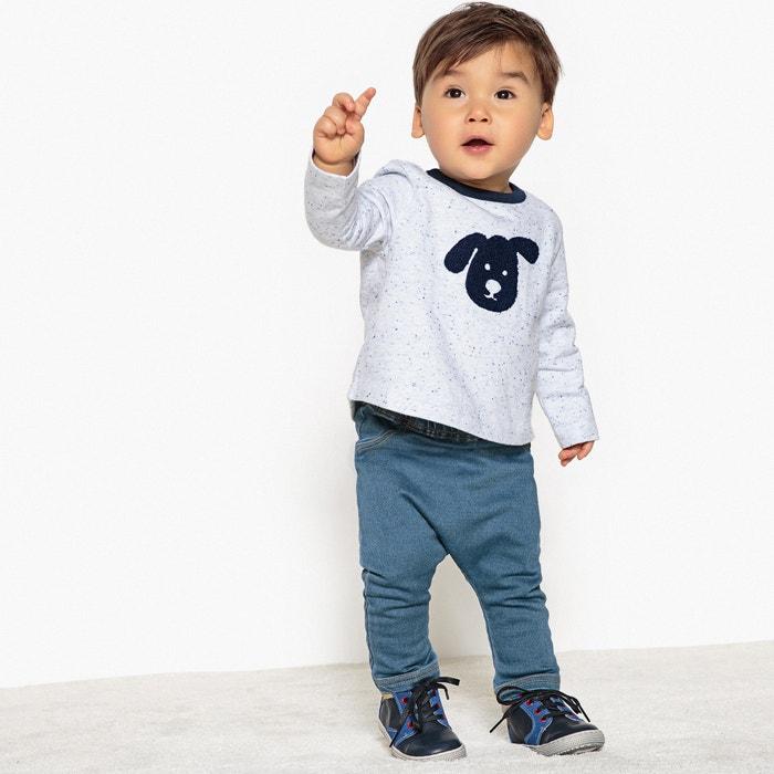 Pantaloni alla turca effetto denim - 0 mesi - 2 anni  La Redoute Collections image 0