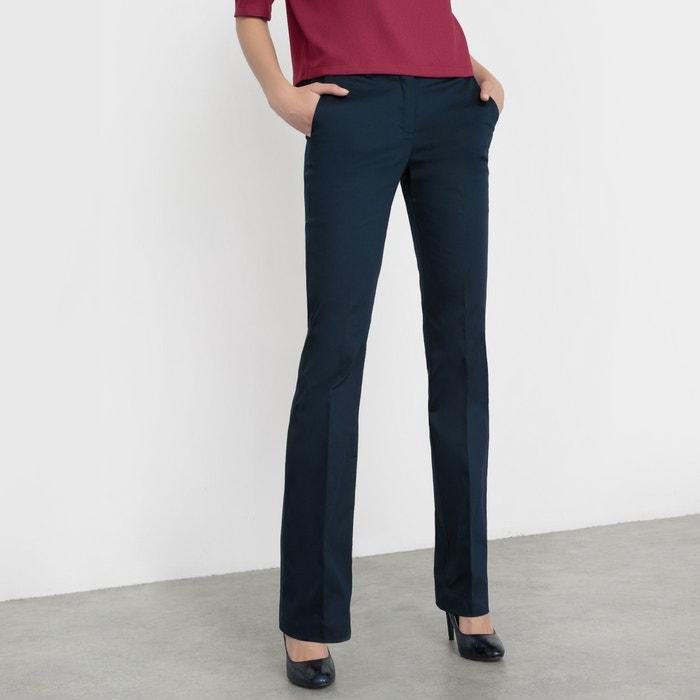 Image Pantalon droit satin de coton stretch R essentiel