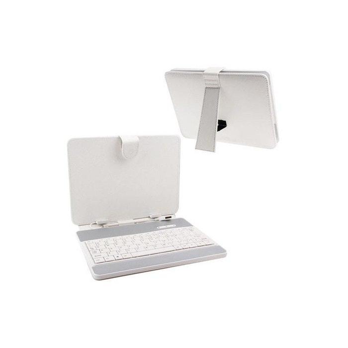 housse clavier universelle tablette tactile 7 pouces support blanc blanc yonis la redoute. Black Bedroom Furniture Sets. Home Design Ideas