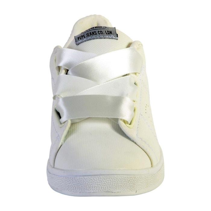 Basket brompton square blanc Pepe Jeans