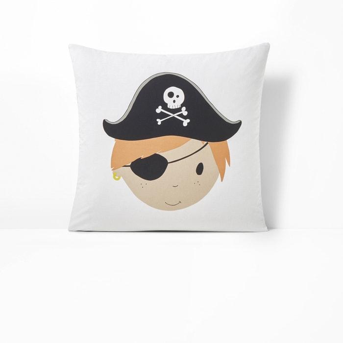 JACK Pirate Print Reversible Cotton Square Pillowcase  La Redoute Interieurs image 0