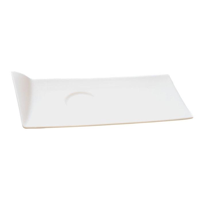 lot de 6 plat caf gourmand flag blanc sibo homeconcept la redoute. Black Bedroom Furniture Sets. Home Design Ideas