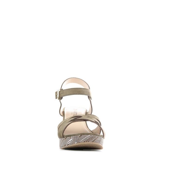 Sandales à talon rage vert Jb Martin