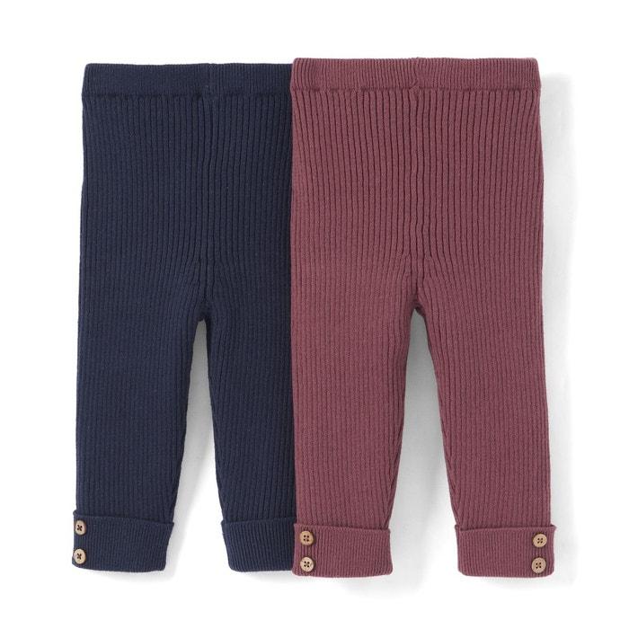 Legging en tricot 1 mois - 3 ans (lot de 2)