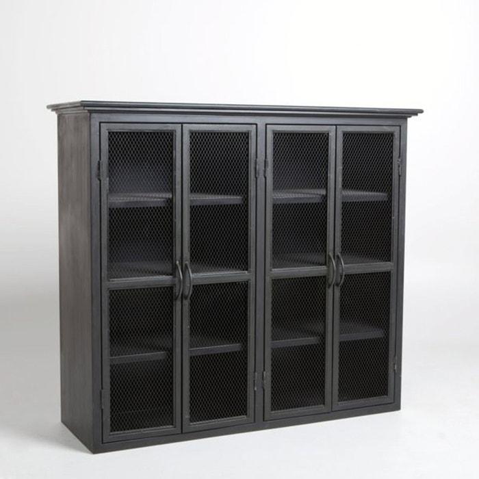 vaisselier m tal kargo noir am pm la redoute. Black Bedroom Furniture Sets. Home Design Ideas