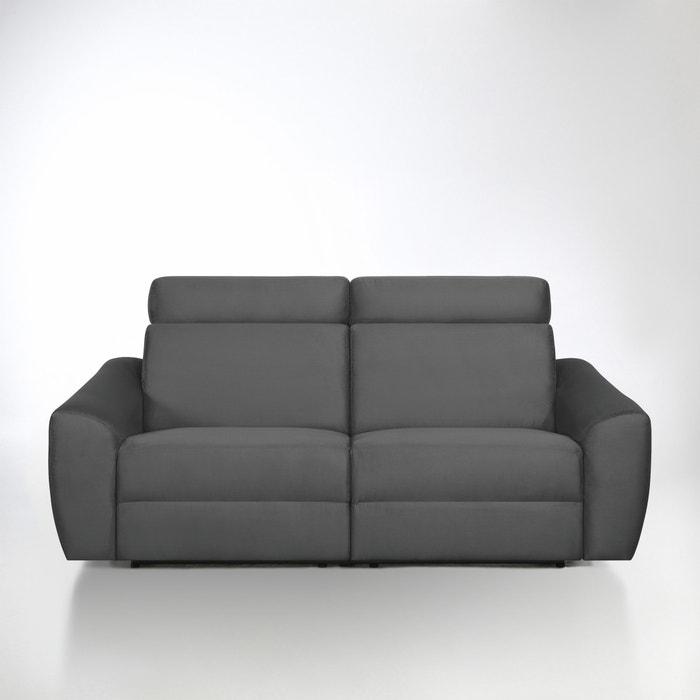 afbeelding Elektrische relax canapé Nando in microvezel La Redoute Interieurs