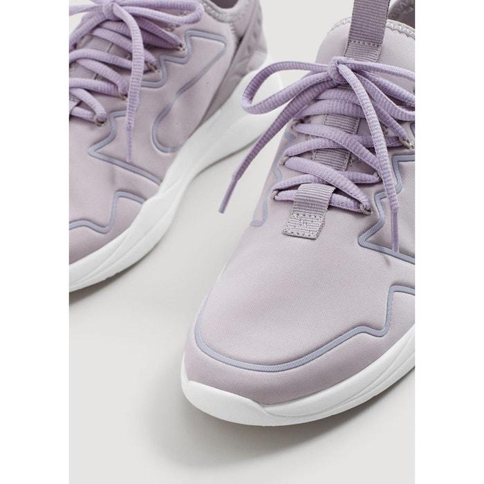 Tennis semelle légère ornement violet Mango
