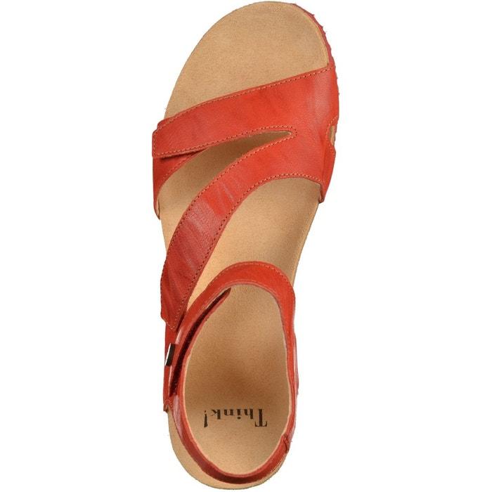 Sandales rouge Think!