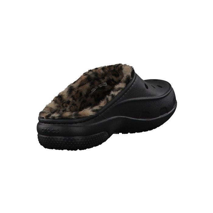 Sabot freesail leopard lined 202318-072 black/gold Crocs