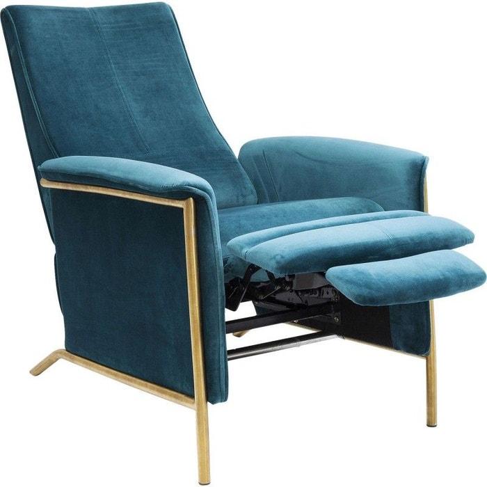 fauteuil relax lazy velours bleu p trole kare design bleu kare design la redoute. Black Bedroom Furniture Sets. Home Design Ideas
