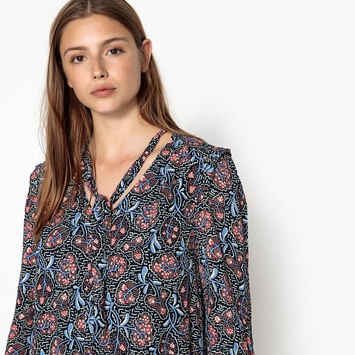 Robe Imprimé Suncoo Cheryne Courte Imprimée Noir Rosefond Floral rxPfrqA