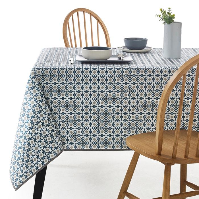 nappe imprim e helia polycoton enduit anti taches la redoute interieurs bleu canard gris la. Black Bedroom Furniture Sets. Home Design Ideas