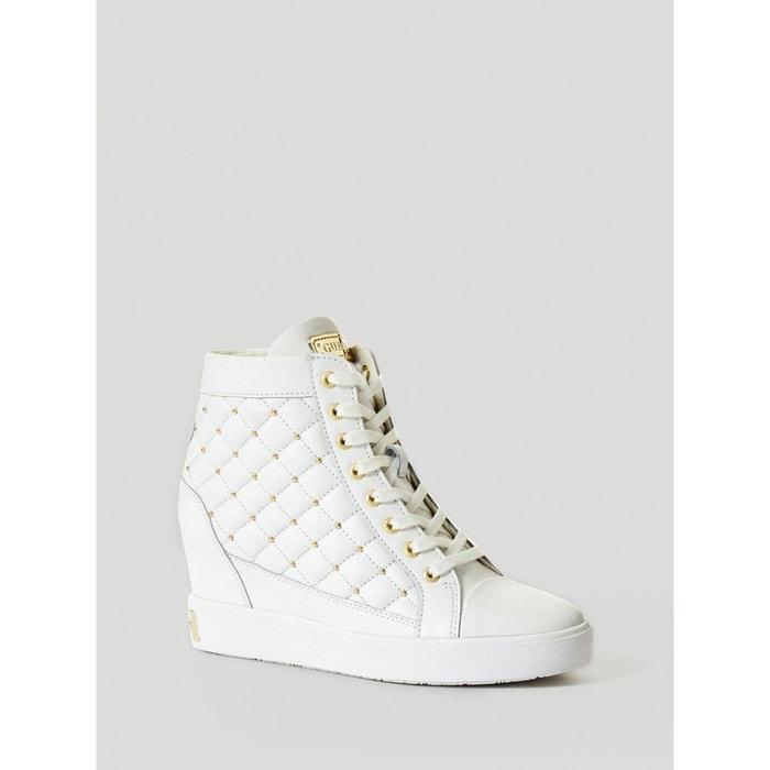 Sneaker compensee furr en cuir Guess Acheter Pas Cher Grande Vente zmshBYTy