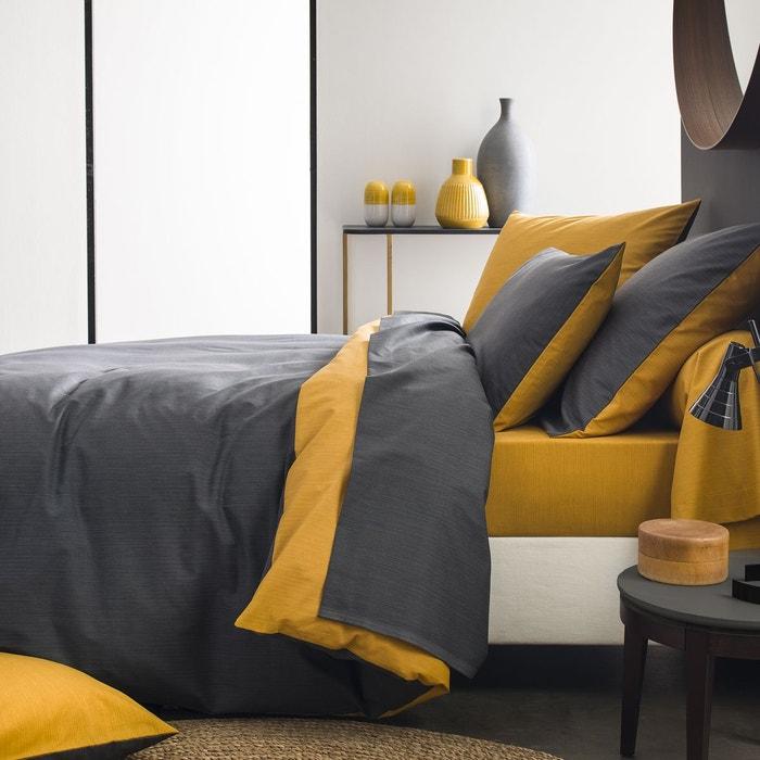 taie d 39 oreiller corce en bambou carbone moutarde carbone moutarde origin la redoute. Black Bedroom Furniture Sets. Home Design Ideas