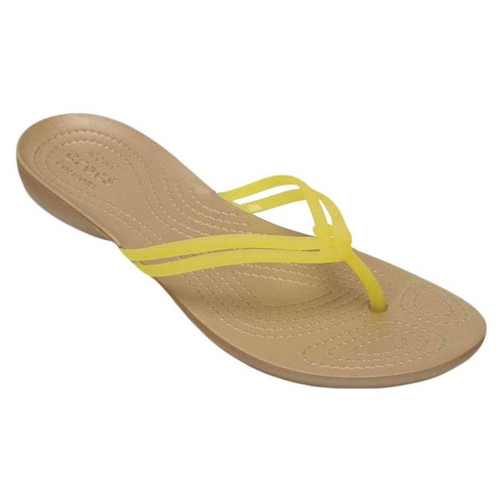 4de1f91976f Crocs isabella flip tong femme jaune Crocs