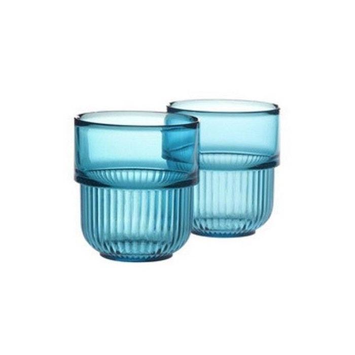Gobelets salle de bains design authentics kali set de 2 bleu authentics la redoute for Set salle de bain design