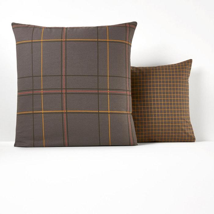 taie d oreiller imprim e kindia imprim gris anthracite. Black Bedroom Furniture Sets. Home Design Ideas