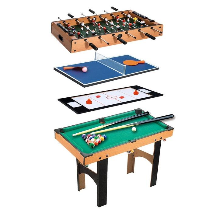 Table multi jeux 4 en 1 babyfoot billard air hockey ping-pong avec  accessoires MDF b9e5a329f726