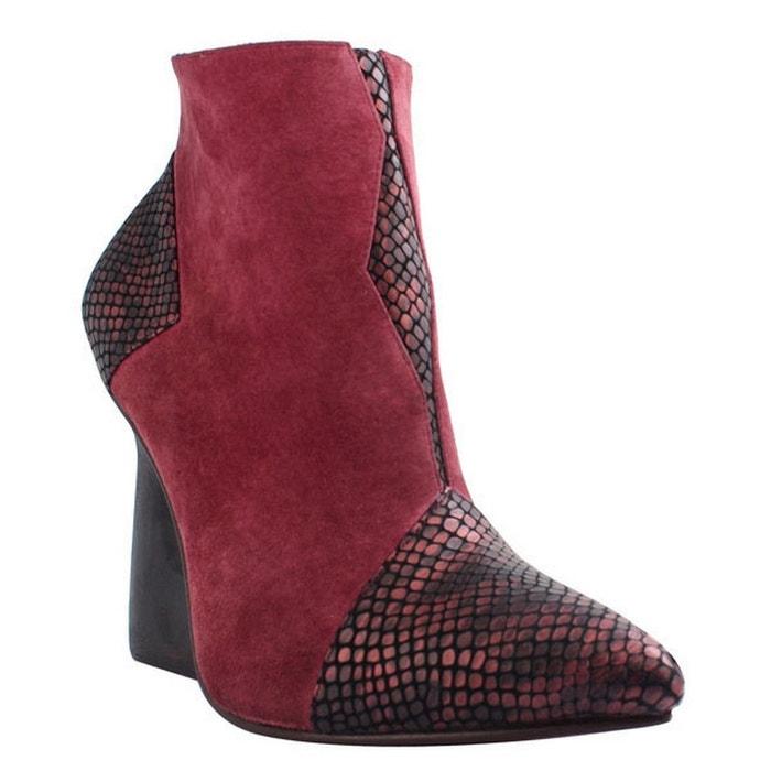 Chaussure femme en cuir amelia rouge Pring Paris