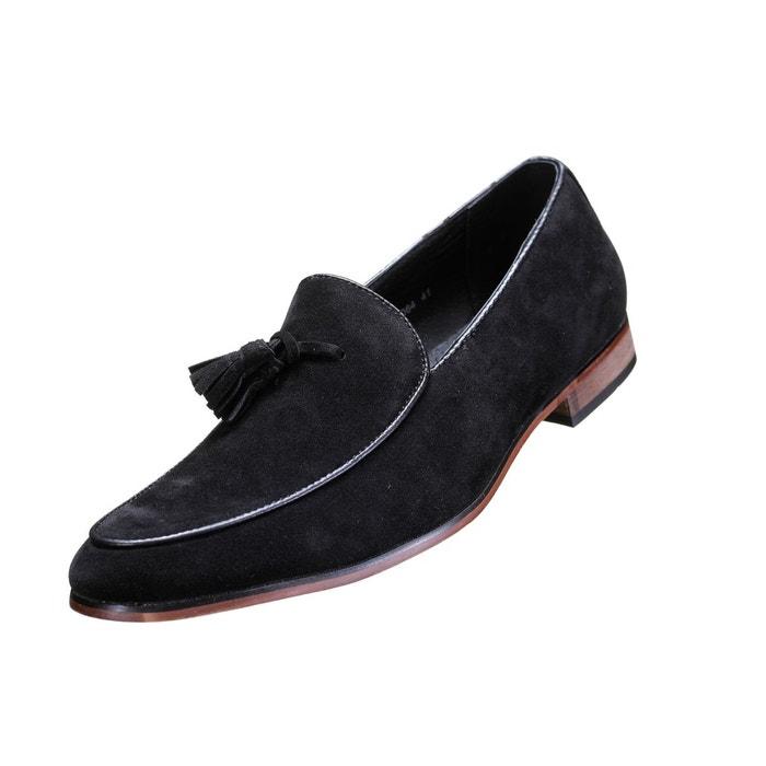 Chaussure derbie à pompoms noir Galax