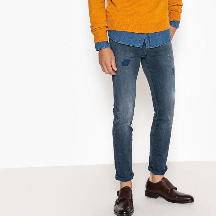 Jeans corte slim, efeito stretch, destroy  La Redoute Collections image 0