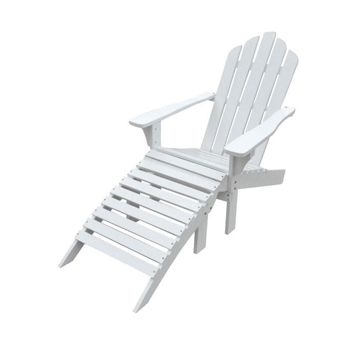 ensemble fauteuil et repose pieds en sapin blanc blanc happy garden la redoute. Black Bedroom Furniture Sets. Home Design Ideas